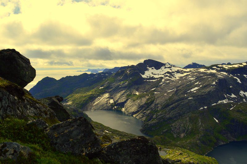 Overview from Lofoten.