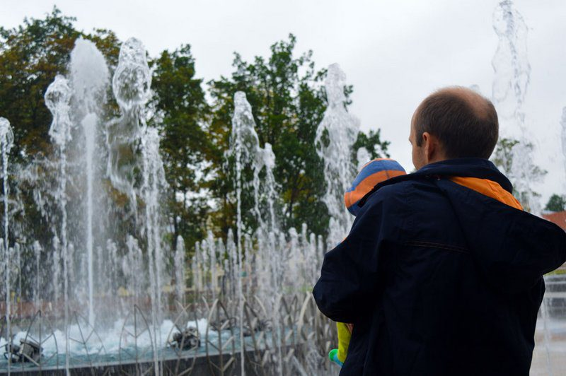 Lublin: Fountain at the Center