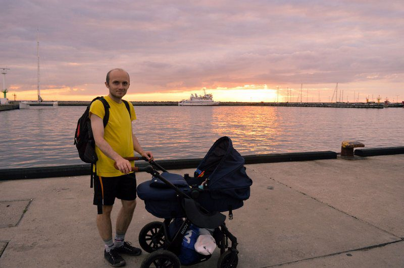 Sunset on Hel Peninsula with the Baby, Poland