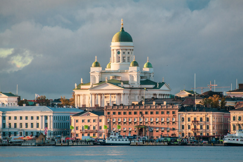 Helsinki Cathedral from the sea
