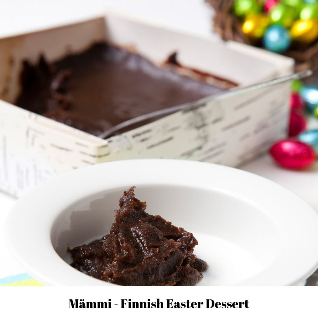 mämmi or mammi - traditional finnish food for easter holiday