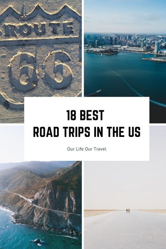 best road trip in the US pin
