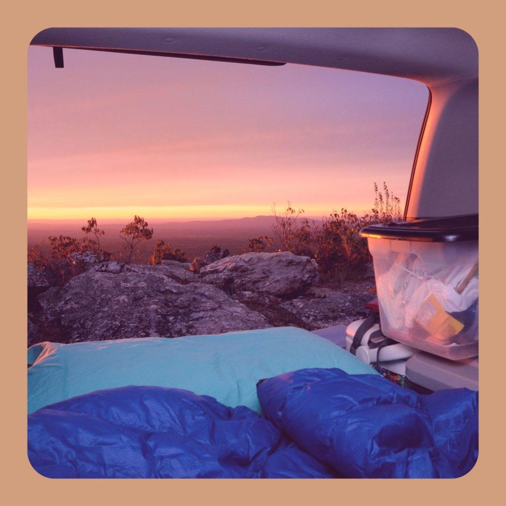 sleeping gear car camping